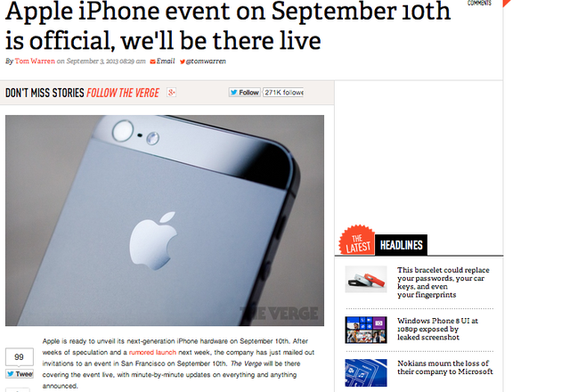 Apple Will Announce the Next iPhone(s) on Sept 10th (Update: HOLD THAT THOUGHT)